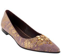 9088b07388a18 Donald J Pliner Barend Signature Metallic Flats Metallic Flats, Shoe Sale,  Qvc, Awesome