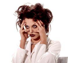 Angelina Jolie photographed by Marcel Indik, 1995 Pretty People, Beautiful People, Grunge Makeup, Angelina Jolie 90s, I Icon, Celebs, Celebrities, Makeup Looks, Hair Makeup