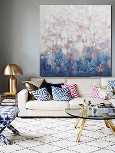 contemporary art on canvas, hand painted large painting from CZ ART DESIGN, for contemporary home and modern interiors. @CeilneZiangArt