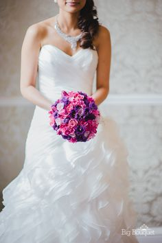 love love love!  Spring Wedding Bouquet with Purples and Pinks - www.bigbouquet.co.uk