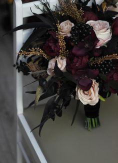 Dusty Rose Wedding, Floral Wedding, Fall Wedding, Dream Wedding, Deep Purple Wedding, Gothic Wedding, Viking Wedding, Wedding Bells, Witch Wedding