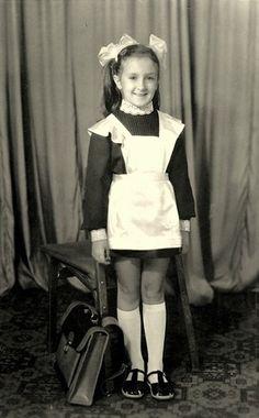 Russian school uniform, 1976. #education