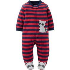 Child of Mine by Carter's Newborn Baby Boy Microfleece Sleep N Play, Size: 0 - 3 Months, Red