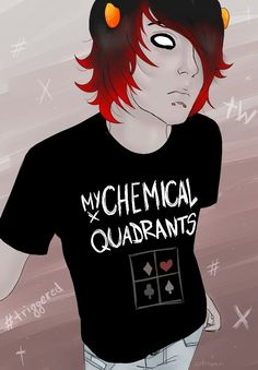 MY CHEMICAL QUADRANTS **spots water out and stares. YES PLEASE! Punk Kankri is gorgeous
