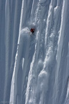 Skiing steeps  Crazy!