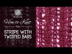 How to Knit the Stripe with Twisted Bars Stitch