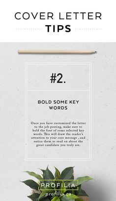 Cover letter tips for job hunting  www.profilia.ca  #coverletter #jobhunting