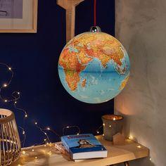 Globe lumineux suspendu - Un éclairage suspendu original, pour une atmosphère poétique - 59,95 €