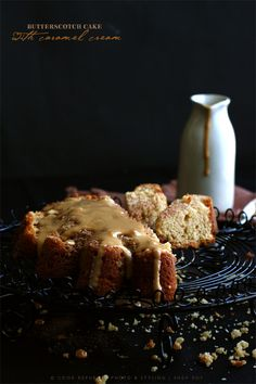 Butterscotch Cake With Caramel Cream -- decadent flavors. By @Sneh Roy | Cook Republic