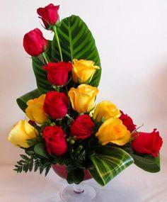 L Shape Floral Arrangement