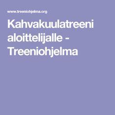 Kahvakuulatreeni aloittelijalle - Treeniohjelma