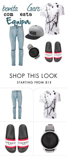 """""""Sem título #6"""" by letybaby on Polyvore featuring Topman, Givenchy, Movado, Vans, men's fashion e menswear"""