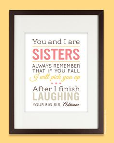 Sister Birthday Gifts on Pinterest Sister Gifts, Gifts and Christmas ...