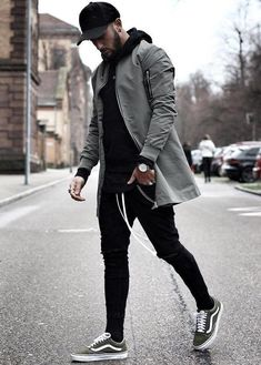 Black hoodie with black joggers and cap, The silver watch and white shoes make. Black hoodie with black joggers and cap, The silver watch and white shoes make Mode Masculine, Men Street, Street Wear, Street Outfit, Herren Outfit, Stylish Mens Outfits, Stylish Suit, Black Joggers, Mens Clothing Styles