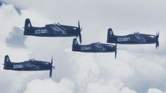 Blue Angels F8F-1 Bearcats in formation, 1946
