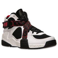 Men's Nike Air Raid Basketball Shoes| Finish Line | White/Black/University Red