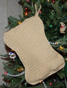 If you have a special pooch in your life, make them their very own Christmas stocking to hang by the fireplace for the doggie treats that Santa would leave them.