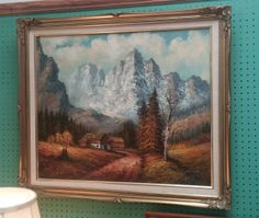 20th Century Oil Painting. Signed in bottom right-hand corner. Framed size measures 28 inches x 24 inches.