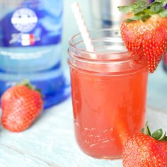Easy strawberries and cream cocktail, perfect for your next get together!