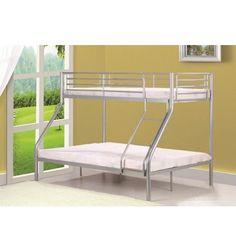 Superbe lit superposés séparables conçu en métal avec une belle couleur argenté ajoutera une touche chaleureuse à votre chambre, vous avez la possibilité d...