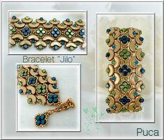 """Tutoriels, Schéma bracelet """" Jilo"""" est une création orginale de PUCA sur DaWanda"""