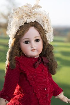 """24 1/2"""" (62 cm) Antique German Bisque Child by Kammer and Reinhardt With Rare Flapper Body"""