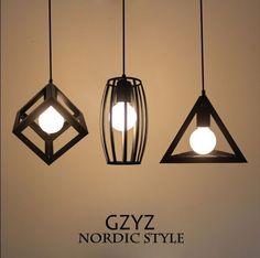 3 style modern Retro Industrial Iron Vintage Ceiling light Pendant Lamp Fixture…