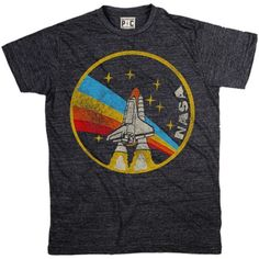 Men's NASA Rainbow T-Shirt | Cool Space Tees | Vintage Space TShirts | PalmerCash