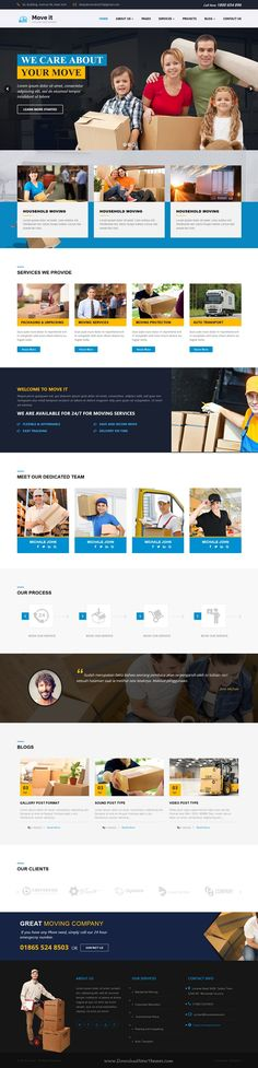 Move It is modern and super clean business WordPress template for Movers, Storage, #Courier services and all type of moving #company related business #website. Download Now!