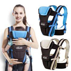 안전 내구성 0-30 개월 아기 캐리어, 인체 공학적 어린이 슬링 배낭 pouch 랩 전면 다기능 유아 캥거루 가방