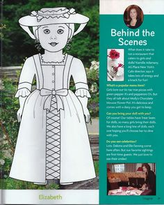 colonial paper doll girl girls social studies and fashion trends