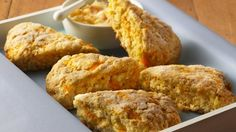 Start the day with these ultra-citrus-y scones, with juicy pieces of mandarin baked right in.