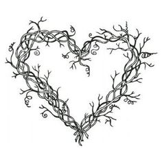 Vine heart? Would need the design to be a bit simpler.