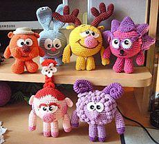 Maglieria Smeshariks: Croche, Riccio, e Sovunya Nyusha - maglia Giocattoli - Schemi di maglia - dell'autore Project Natal Gruhinoy