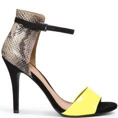 Aveiro - Yellow  JustFab $54.99 - Yellow and Snake.