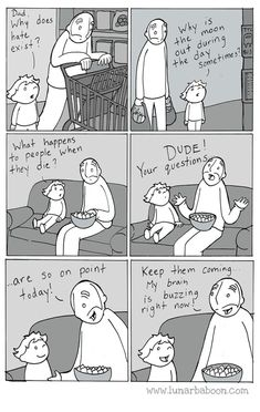 Dad's Sweet Comics Promote Empathy, Tolerance And Love The Awkward Yeti, 4 Panel Life, Life Comics, Funny Memes, Hilarious, Funny Videos, Jokes, Quiz, Baboon