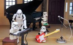 star wars piano stormtroopers funny 1920x1200 wallpaper Art HD Wallpaper