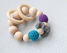 Beißring. Greifling. Spielzeug für Babys. Zahner von NiHaMa - Nice Hand Made auf DaWanda.com