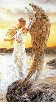 Luz y Oscuridad en mi..Bellísima Ángel, de Luis Royo