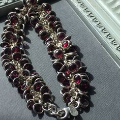 Silpada Garnet Cha Cha Bracelet Here it is!! Don't miss it! Stunning Silpada Cha Cha bracelet. Garnet and 925 sterling silver with lobster clasp.  Bundle with the garnet necklace also listed! Silpada Jewelry Bracelets
