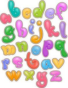 Alfabeto Letras burbujeante — Imagen de stock Bubble Letters Alphabet, Bubble Letter Fonts, Hand Lettering Alphabet, Graffiti Alphabet, Letter Art, Alphabet Art, Graffiti Lettering Fonts, Creative Lettering, Lettering Tutorial