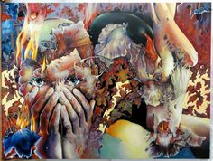 """Saatchi Art Artist GABRIELA CRISTU; Painting, """""""" Prelude to the Afternoon of the Faun """""""" #art"""