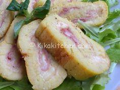 Il rotolo di patate farcito con prosciutto e formaggio è un goloso piatto unico. Ottimo sia caldo che freddo, piace molto ai bambini.