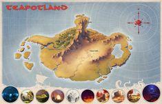 ArtStation - Teapotland map, Milan Vasek