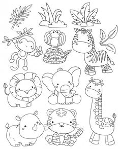 A happy hopping unicorn below a rainbow Art Drawings For Kids, Cartoon Drawings, Easy Drawings, Animal Drawings, Hand Embroidery Designs, Embroidery Patterns, Animal Templates, Animals Black And White, Digi Stamps