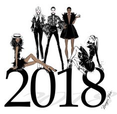 #Repost @meganhess_official Megan Hess Illustration ・・・ To the year ahead. Wishing everyone all the happiness in the world and let's make 2018 our best year yet! Xxx