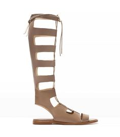 Gladiator sandals are making a comeback this spring: Zara Leather Roman Sandals in Taupe