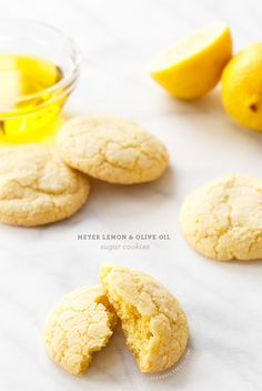 Meyer Lemon Olive Oil Sugar Cookies