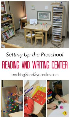 How to set up a reading and writing center in preschool - Teaching 2 and 3 Year Olds