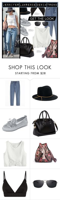 """Jennifer Lawrence"" by goreti ❤ liked on Polyvore featuring Eugenia Kim, Givenchy and Johnny Was"